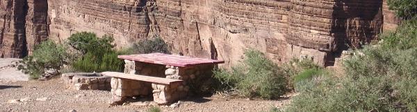 Picnic Bench at Canyon