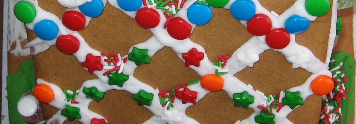 Decorated Gingerbread House Roof