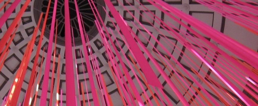 Streamers from Roof at Museum