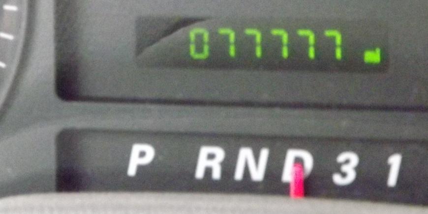Odometer at 77777 Miles