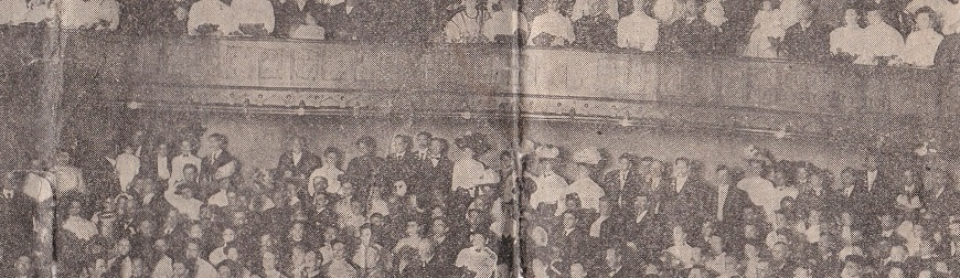 Scanned Newspaper Clipping of 1908 Welshimer Class at First Christian Church of Canton Ohio