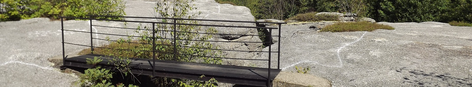 Close-Up of Metal Bridge Over Gap