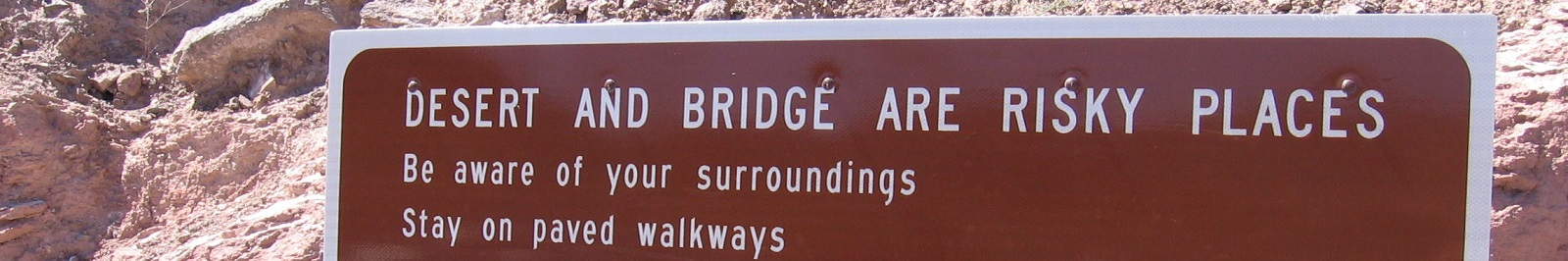 Desert and Bridge are Risky Places