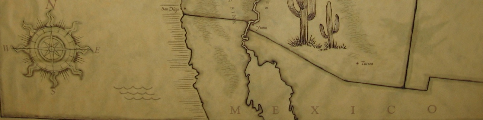 Map of US Southwest and Mexico