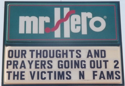 Our Thoughts and Prayers Going Out