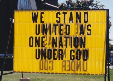 We Stand United as One Nation Under God